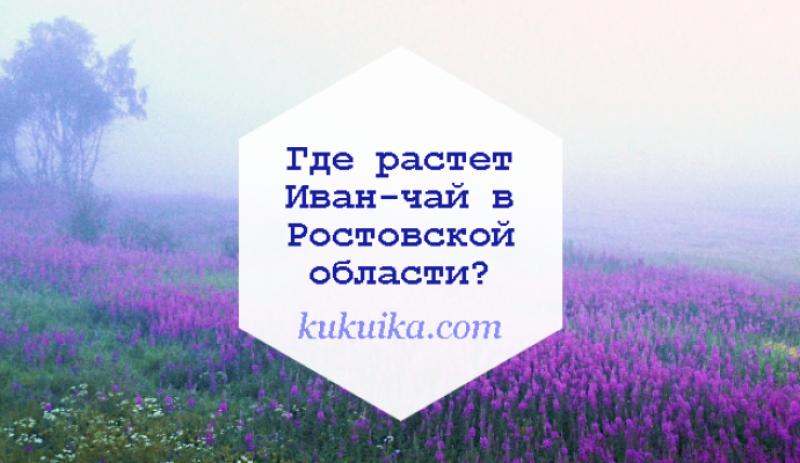 Где растет Иван-чай в Ростовской области?